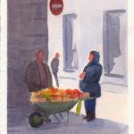 The gypsy fruit seller4x6